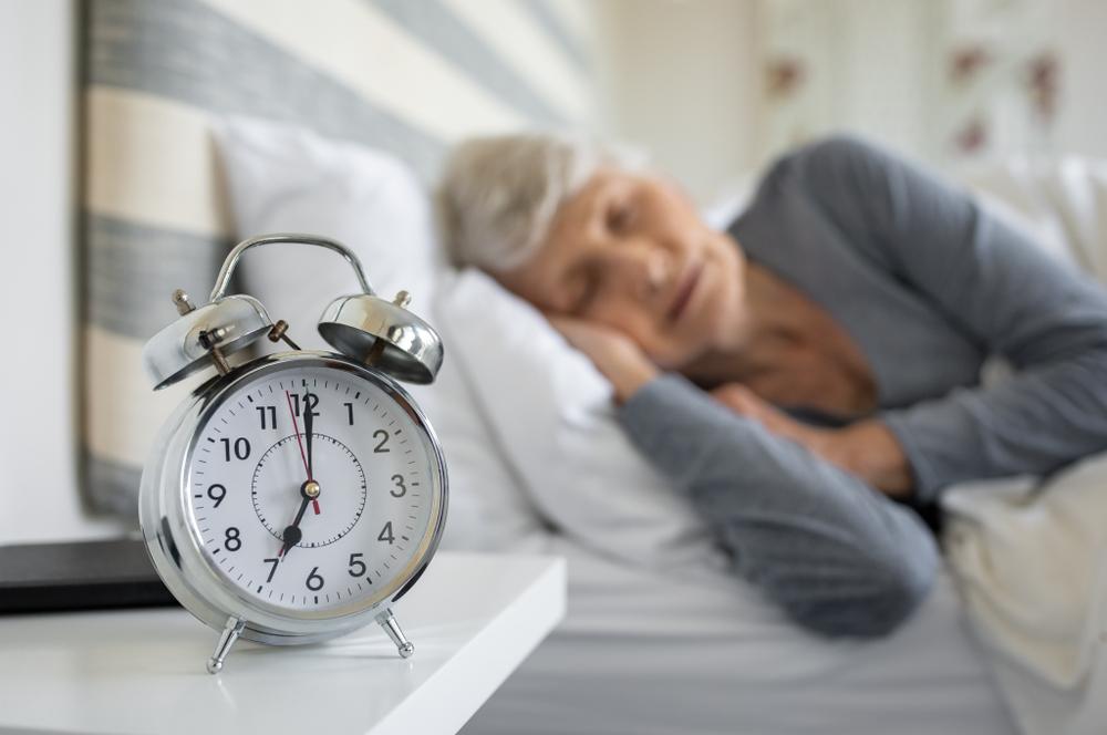 rentnerin schläft